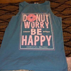 Donut worry be happy tank
